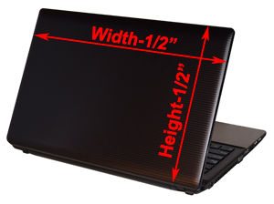 How to measure your laptop for an RG Graphix Laptop Skin.