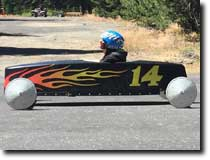 David Taylor's Soap Box Derby Car featuring decals by RG Graphix.