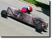 Marcos Diaz's Soap Box Derby Stock Car featuring full vinyl wrap graphics by RG Graphix.