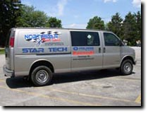Northstar Power Sports van featuring custom graphics by RG Graphix.