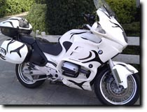 BMW Motorcycle by Mike Philippens featuring Zebra graphics by RG Graphix.